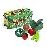 Erzi Gemüsesnack in der Dose, 7tlg. Aus Buchenholz