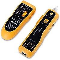 Incutex, Detector rastreador de cables red, buscador RJ45/RJ11 para líneas telefónicas y cables LAN, detector de línea