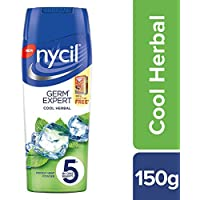 Nycil Cool Herbal, 150g + Free Glucon-D Orange 100g