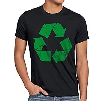 style3 Recycle T-Shirt Herren, Größe:XXXL;Farbe:Schwarz