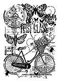 Woodware Clear Stempel Magic Singles Fahrrad Collage, 21x 11x 0,6cm -