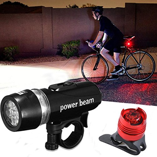 HCFKJ Imprägniern Sie helles 5 LED Fahrrad Zyklus Fronten und hinteres hinteres Rücklicht Lichter