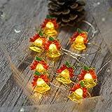 Weihnachten Dekoration LED Fee Lampe Lichterkette Goldene Glocke Creative String Licht Weihnachtsbaum Anhänger Festival Geschenk 8 dekorative Beleuchtungsmodi