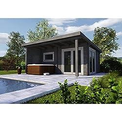 Infraworld Poolhaus Living 1 Größe 505 x 385 cm in nord. Fichte 391050