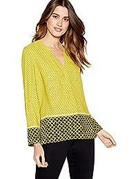 2462fe93fa41f5 Debenhams The Collection Womens Yellow Geometric Print Utility Blouse