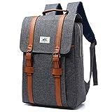 JAGENIE Männer Frauen Schule Rucksack mit Laptop-Rucksack Umhängetasche College Tasche grau