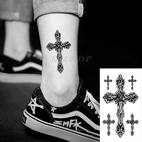 tzxdbh Wasserdicht Temporäre Tätowierung Sticker Body Art Cross Tatto Sticker Tatoos Fuß Hand zurück für Mädchen Frauen
