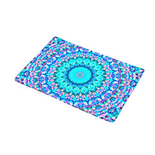 Xinwcanga Diseño Colorido Respaldo de Goma Felpudo Antideslizante para Puerta Decoración Alfombra...