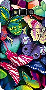 Dot Print Back Cover For Samsung Galaxy E7 Colorful Butterfly Printed Case