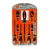 9-teiliges Profi Schraubendreher Set hochwertiges Schraubenzieher Werkzeug | inkl. Kreuzschlitz und Langschlitz | 9 verschiedene Größen | ergonomischer Griff