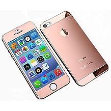 saflyse iPhone de cuadros y trasera Protector de pantalla tanque pantalla vidrio protector de pantalla Vidrio Templado para iPhone 5G/5S
