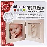 Kit moulage empreinte de bébé + Cadre photo 12,5x12,5 cm - Artémio