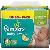 Pampers Baby Dry Größe 4+ Maxi Plus 9-20kg Jumbo Plus Pack (1 x 76 Windeln)