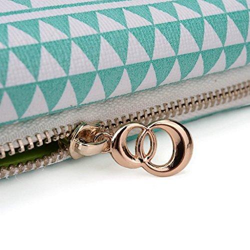 Kroo Pochette/étui style tribal urbain pour Verykool S5510Juno Multicolore - Brun Multicolore - White with Mint Blue