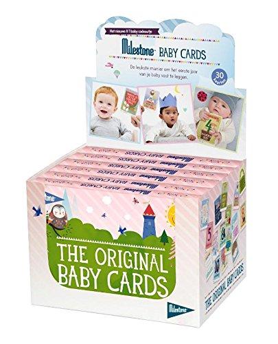 Baby photo cards original/ display met 6 losse sets: de leukste manier om het eerste jaar van je baby vast te leggen