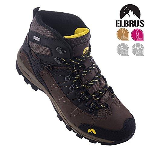 Elbrus  Elbrus Talon Mid Wp Herren Outdoor Schuhe Braun, Loisirs homme Braun (Braun-Schwarz)