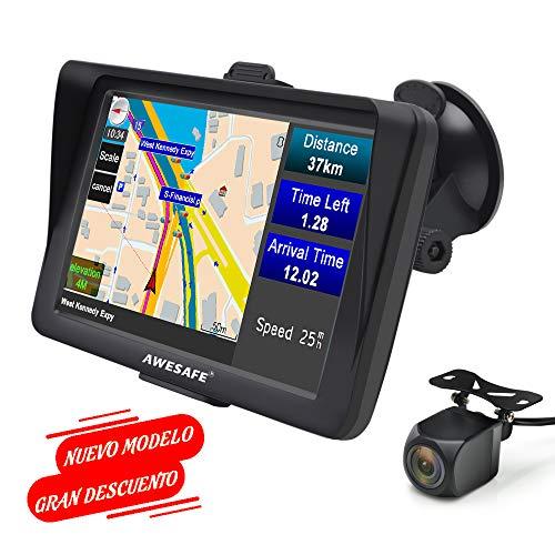 GPS Coche 7 Pulgadas Bluetooth Cámara Trasera, Gratis