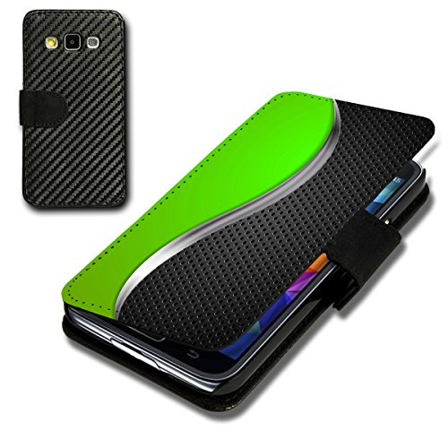 Book Style Carbon Flip Handy Tasche Hülle Schale Motiv Foto Etui für Sony Xperia Z5 - Flip CB8 Design12