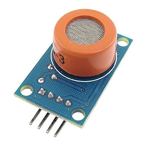 WINGONEER MQ-3 DC 3-5V 10-1000ppm Détecteur de module de capteur de gaz d'alcool de 4 pin MQ-3