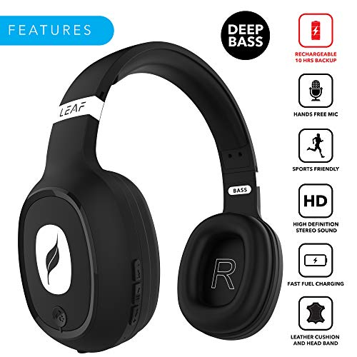 e76b3ddff29 50% OFF on Leaf Bass Wireless Bluetooth Headphones with Hi-Fi Mic and 10
