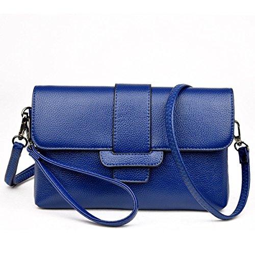 Damen Handtasche PU Leder Großer Kapazitäts Bankett Umschlag Tasche Umhängetasche Diagonal Paket Handgelenktasche C