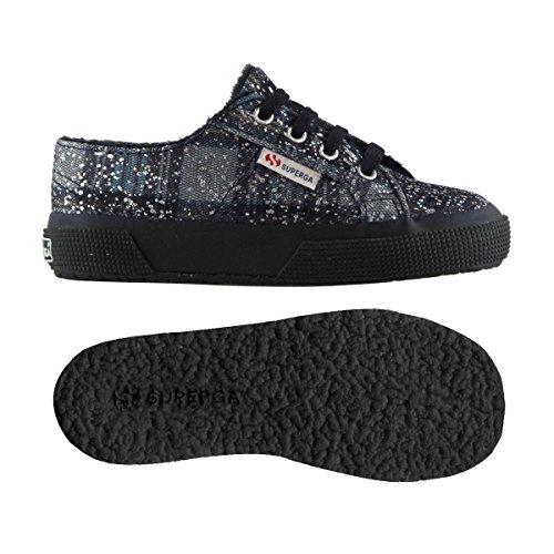 Chaussures Le Superga - 2750-metallicmeshcheckj - Bambini NAVY-AZUR-SILVER