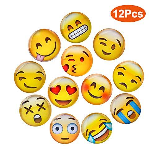 12 Stücke Emoji Magnete Für Magnettafel Kühlschrankmagnete Starke Magnete Niedliches 3D Witzig (Kühlschrank-magnete Emoji)