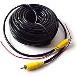 Coche RCA Vídeo Cable para Reversa Vista Trasera Aparcamiento Cámara con Detección Alambre Inversa Gatillo Plomo - 15 Metros