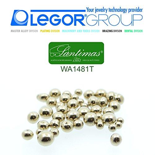 Jewelers Strumento, Bianco in lega, per 9-14-18kt.Oro lavoro, di alta qualità, Italia, 100g.