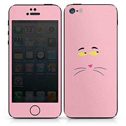 Apple iPhone 5c Case Skin Sticker aus Vinyl-Folie Aufkleber Pink Panther Katze Cat DesignSkins® glänzend