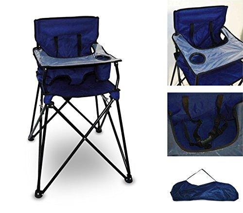 Mediawave store seggiolone da campeggio 321546 richiudibile onshore con sacca trasporto blu