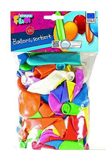 Stylex Luftballons, verschiedenen Formen, 100 Stück