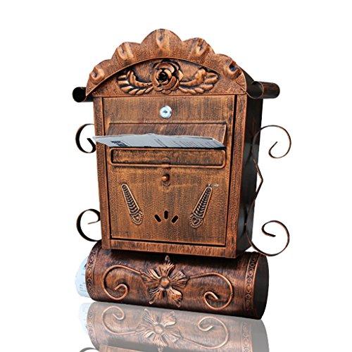 HLJ Europäische Villa Mailbox im Freien Postfach Garten Mailbox Retro Kreative Briefkasten
