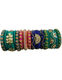 Lucky Designer Multi-Colour Colour Silk Thread Bangle For Women
