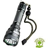 SUNSPEED LED Taschenlampe/500 Lumen /5 Modus Regulierbar/ IP65 Wasserdicht/18650 wiederaufladbare Batterie+Batterieladegerät