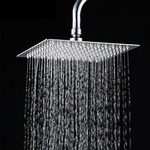 SAEJJ-Super sottile piano in acciaio inox pressione ugello unghie gel di silice pioggia doccia soffione riscaldatore doccia doccia testa dell'acqua,Piazza