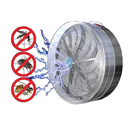Holeider Moskito Lampe, Moskito Killer Lampe Insektenvernichter Anti-Moskito-Lampe Solarbetrieben Fliegen-Insekten-Wanzen-Moskito-Tötungs-Zapper-Mörder Solarbetriebenes Summen-UVlampen-Licht
