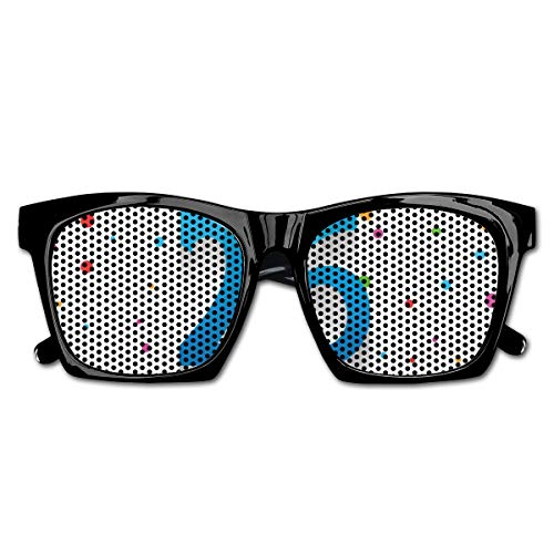 EELKKO Mesh Sunglasses Sports Polarized, New Age Theme Anniversary Surprise Party Polka Dots Colorful Spots Art Design,Fun Props Party Favors Gift Unisex