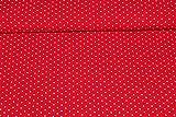 Viskose-Druck Pünktchen rot (10 cm)