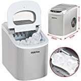 Popamazing New Electrical Ice Cube Maker Machine Home Bar Office Cocktails Cold Drinks (Silver)