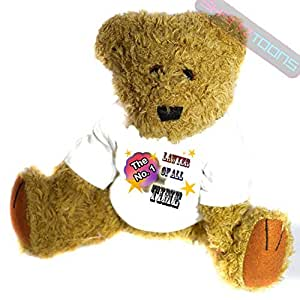 No1. Numero uno Lawyer Gift Teddy Bear for Best Lawyer stampato Teddy maglietta