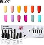 Elite99 Esmalte Semipermanente UV LED 12pcs Kit Uñas de Gel Pintauñas Esmalte de Uñas Soakoff Manicura Color de Macarrón - Gift set 015