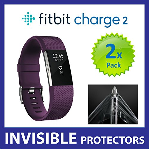 Fitbit Charge 2 HR Screen Protector (PACK of 2) SmartWatch Screen Protectors with Military Grade Protection Exclusive to ACE CASE