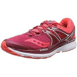 Saucony Triumph Iso 3, Zapatillas de Running para Mujer, Multicolor (Berry/Coral), 37 EU