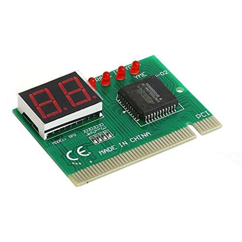 Yintiod 2-Bit-PC-PCI-Diagnosekarte Motherboard Analyzer Tester Post Analyzer Checker - Post Cap Kit