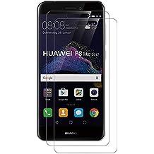 [2-Pack] Protector de Pantalla para Huawei P8 Lite 2017,AICEK P8 Lite 2017 Cristal Templado Premium [9H Dureza & 3D Tacto] Vidrio Templado Protector de pantalla para Huawei P8 Lite 2017