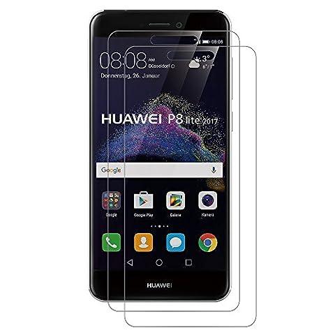 [Lot de 2] Verre Trempé Huawei P8 Lite 2017, AICEK