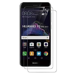 [2 Pack] Huawei P8 Lite 2017 Pellicola Protettiva, AICEK P8 Lite 2017 Screen Protector 5.2 pollici Toccare Compatibile Pellicola Protettiva ultra resistente in vetro temperato per Huawei P8 Lite 2017 Vetro con Durezza 9H Trasparenza ad alta definizione