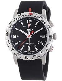 Timex Herren-Armbanduhr XL Adventure Series Compass Analog Quarz Silikon T2P285