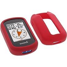foto-kontor Funda para Garmin eTrex Touch 25 eTrex Touch 35 Protectora Silicona Carcasa protección roja